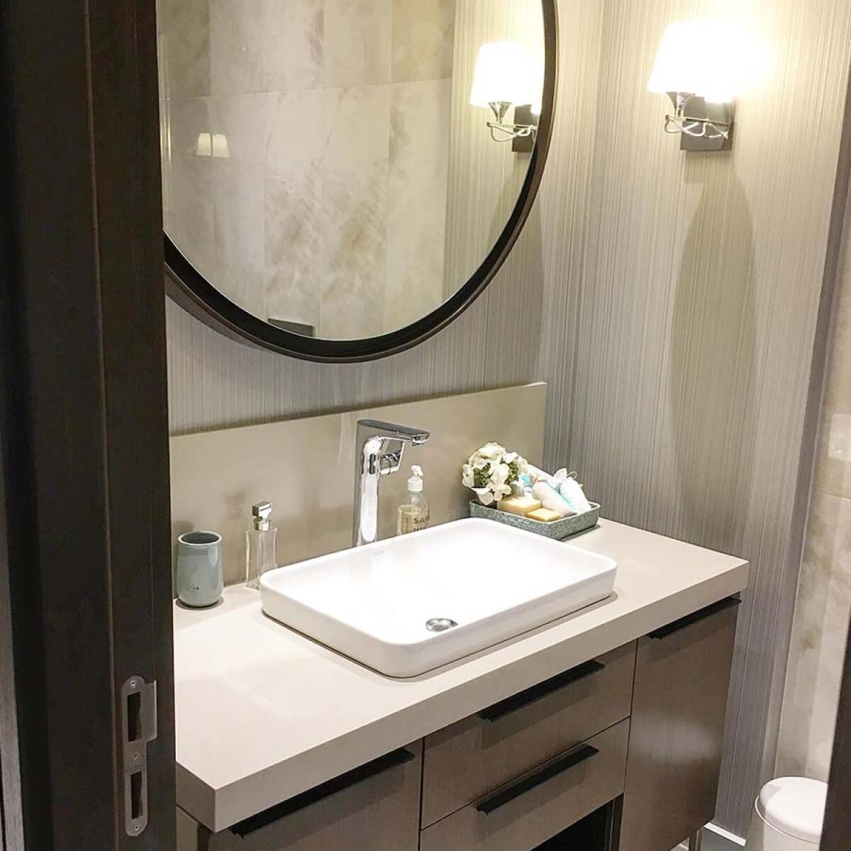 Mebran Kapaklı Banyo Dolabı
